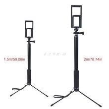 1.5m/2m להארכה Selfie מקל חצובה Stand עבור iPhone iPad DSLR אנדרואיד Gopro