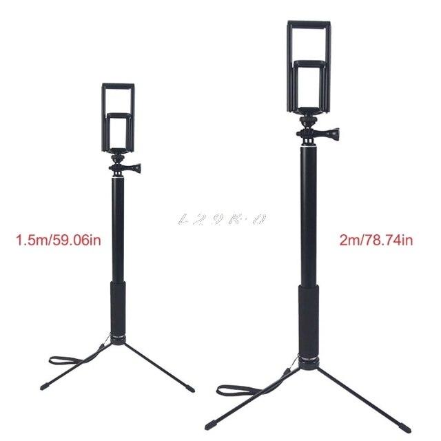 1.5m/2m extensível selfie vara tripé suporte para iphone ipad dslr android gopro