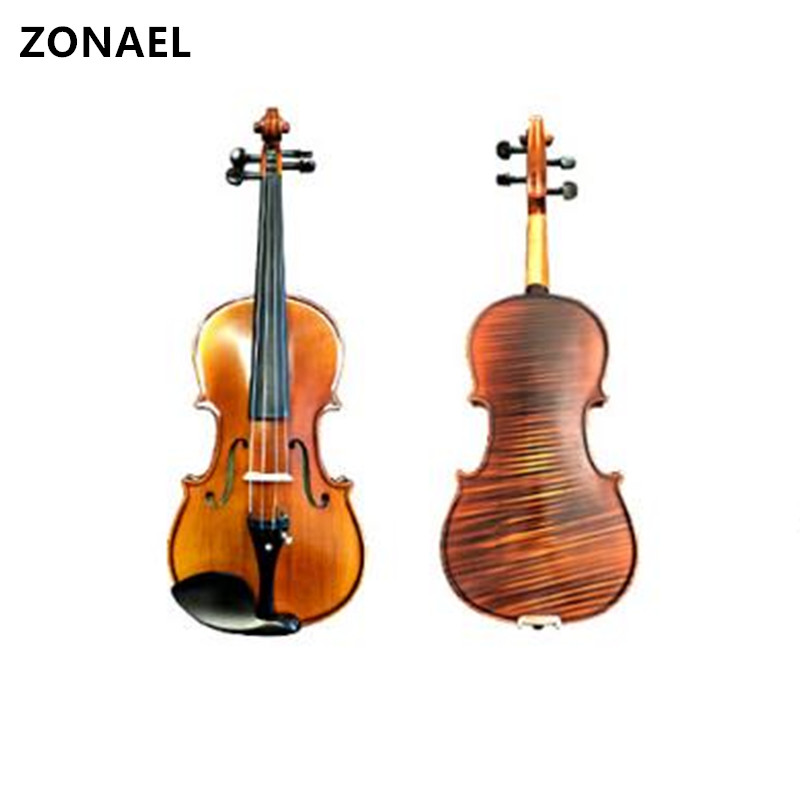 ZONAEL 80S-022 Beginner Violin 4/4 Full Size Acoustic Violin Fiddle Wood Matte Finish Spruce Face Board 4-String Instrument free shipping 353442 a polymer battery 420mah thin lithium battery power panels