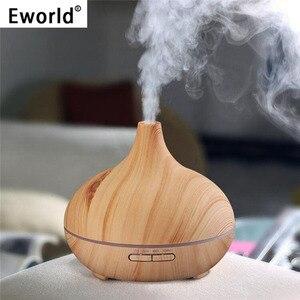 Eworld 300ml óleo essencial umidificador de ar difusor aroma lâmpada aromaterapia elétrica aroma difusor névoa maker para uso doméstico