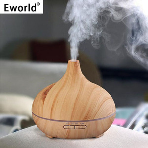 Eworld 300ml Air Humidifier Essential Oil Diffuser Aroma Lamp Aromatherapy Electric Aroma Diffuser Mist Maker for Home Use(China)