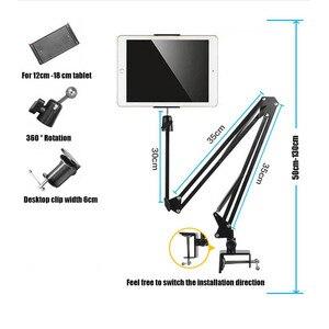 Image 2 - ARVIN regulowany tablet uchwyt stojak na Ipad Air Mini Pro 3.5 10.6 Cal elastyczne obrotowe krzesło łóżko pulpit do montażu na iPhone
