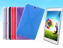Soft X Line Caucho De Silicona Tpu Caso de La Piel Cubierta de Shell para Samsung Galaxy Tab 8.0 pulgadas T350 T351 T355 caso