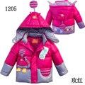 Nuevo invierno 2015 wadded niños de la chaqueta engrosamiento de algodón acolchado para hombre unisex cotton padded del bebé prendas de vestir exteriores