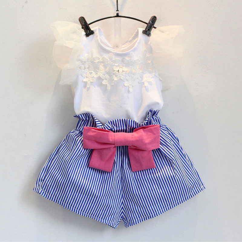 Sodawn Sodawn Summer Style Kids Clothes Fashion T-shirt+Skirt Baby Suits Children Clothing Set Baby Girls Clothes fashion minnie t shirt long tutu skirt 2 pcs baby girls clothing children cartoon suits new summer clothes set free shipping