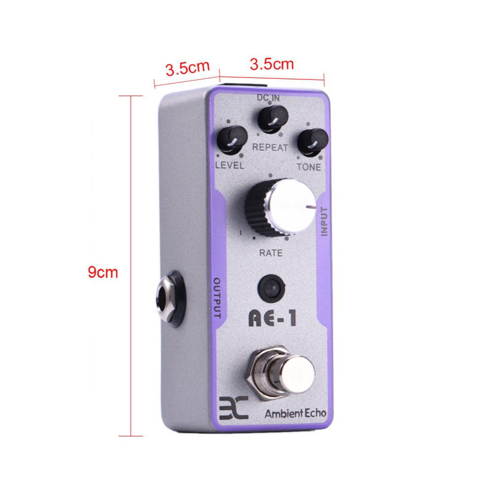 EX Guitar Pedal Ambient Echo Metal case mini pedal High Quality Electric Guitar Effect Metal distortion True Bypass new light high quality 39 carbon fiber guitar case hard case classical guitar case acoustic guitar case customer made accepted