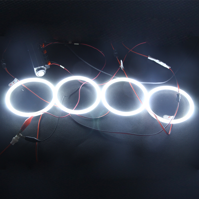 For Bmw E46 2D Coupe 03 04 05 Facelift Projector Headlight White SMD Led Angel Eyes Halo Rings Kit For Bmw 3 Series 330xi M3 7000k xenon white smd led angel eyes halo ring lighting kit for bmw e46 3 series non projector free shipping