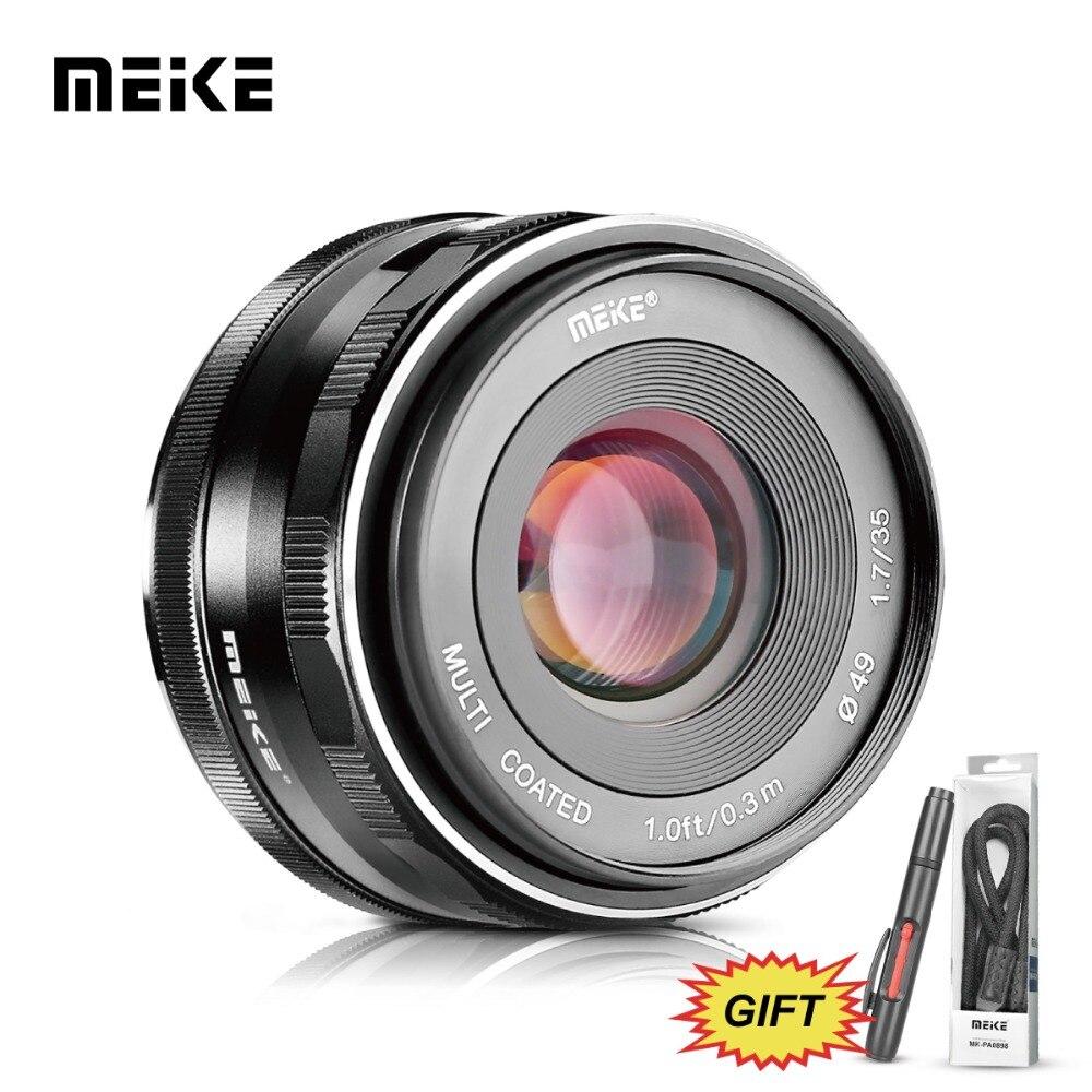 MEKE Meike MK-35mm F1.7 Large Aperture Manual Focus Camera Lens for Canon-EF-M EOS M1/M2/M3/M5/M10/M100 for lens meike 50mm f2 large aperture manual focus mf lens for canon eos m m1 m2 m3 m5 m6 m10 m100