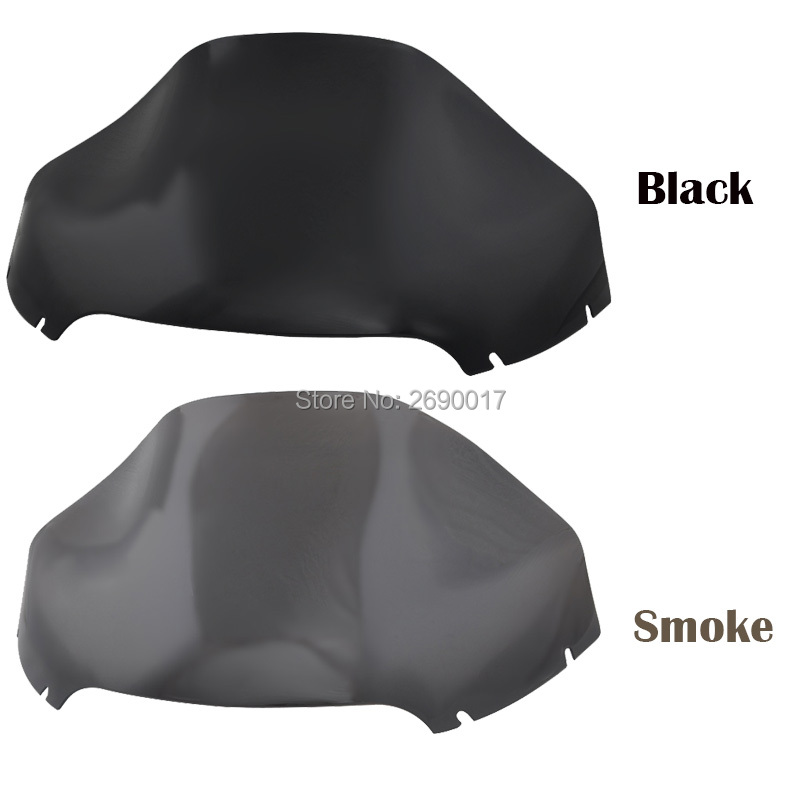 Black Smoke 13'' Wave Windshield Wind Screen Protector Fits For Harley Road Glide FLTR FLTRX 15-18 17 High Quality