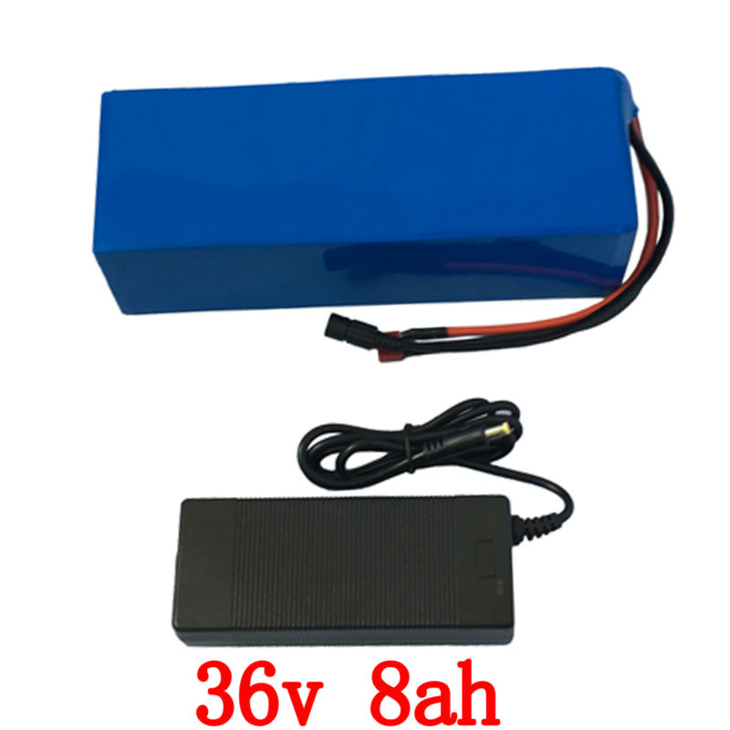 ebike Battery 36v 8Ah 500W electric bicycle battery 36v with 42v 2A charger,15A BMS 36v Lithium Battery Pack Free Shipping free customs taxes super power 1000w 48v li ion battery pack with 30a bms 48v 15ah lithium battery pack for panasonic cell