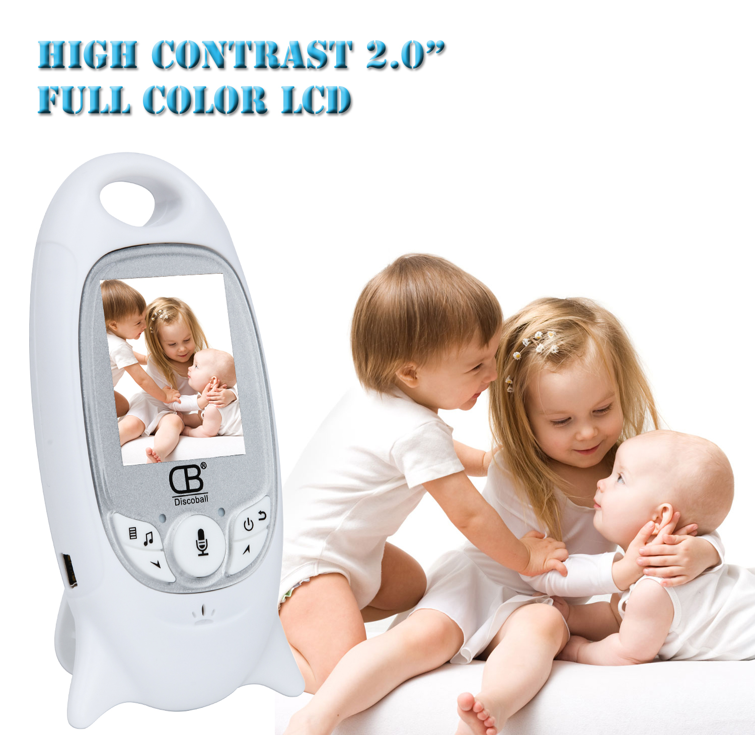 Baby Sleeping Monitor Color Video Wireless Baby Monitor Home Security Camera 2 Talk Night Vision LED Temperature Monitoring