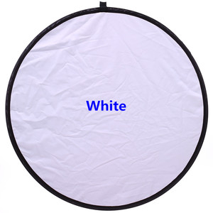 """Image 3 - CY 12 """"/30 cm 2in1 blanc et argent Photo Studio réflecteur poignée Multi pliable Portable disque réflecteur de lumière pour photographie"""