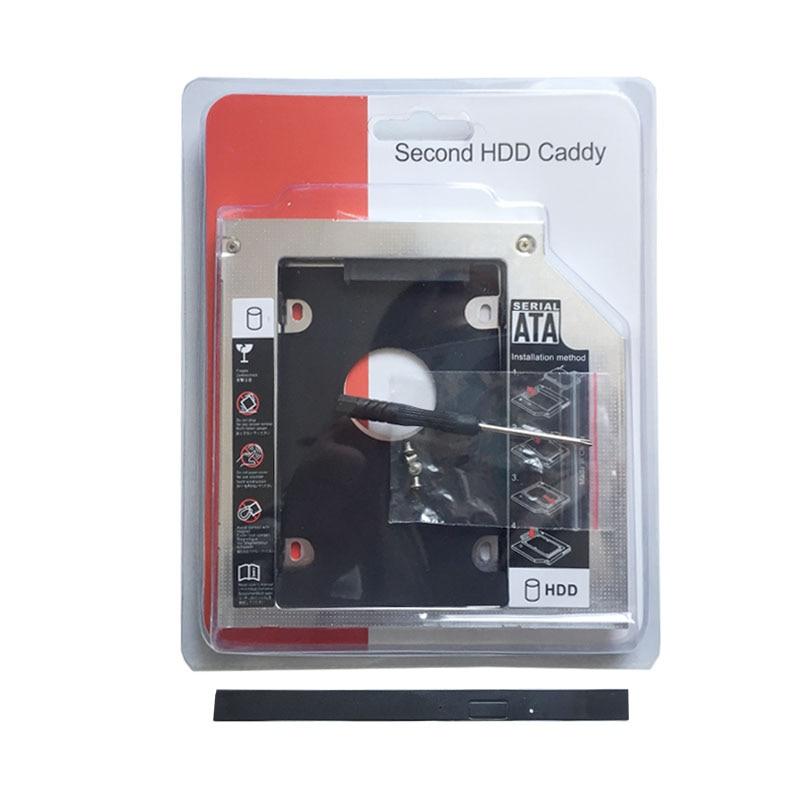 Sata 2nd disco rígido hdd caso caddy adaptador para asus fx50 fx50jk fx50jx fz53v fx53vd (presente moldura de unidade óptica)
