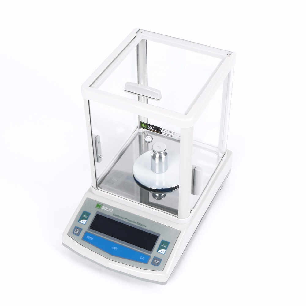 U S Solid 300 x 0 001g 1mg Lab Analytical Balance Digital Precision Electronic Scale CE