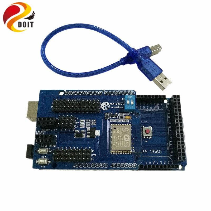 DOIT WiFi Web Sever Shield Kit with 2560 + ESP8266 Serial WiFi Shield Board  DIY Development Board