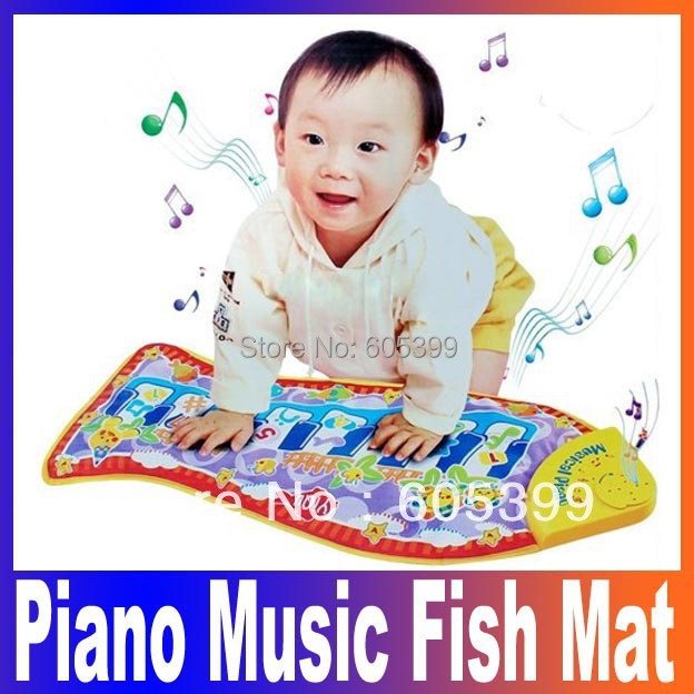 US $13 39 49% OFF|Noise Maker fish Animal Mat piano music game carpet  Fashion Kid Children's Educational crawling play mat, baby toys blanket-in  Noise