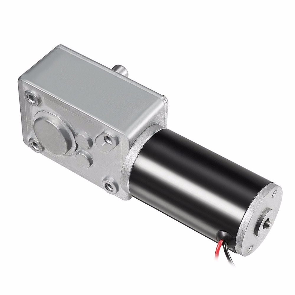 Uxcell 1Pcs DC 12V 3RPM 40kg-cm Worm Gear Motor Reversible High Torque Speed Reduce Turbine Electric Gearbox Motor 8mm Shaft zndiy bry 12v dc 3rpm torque gear motor silver