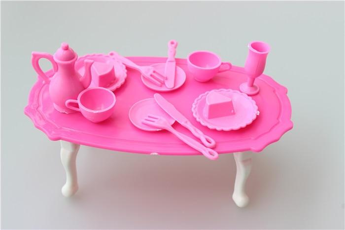 Child's play home toys Doll Equipment Handmade Doll's Plastic tablewaresets For Barbie Dolls/Kali dolls