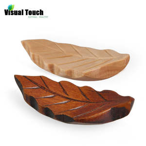 Visual Touch 1pc Japanese StyleWood Stand Holder Leaf Shape Chopsticks Rest Rack Art Craft Chopsticks Holder