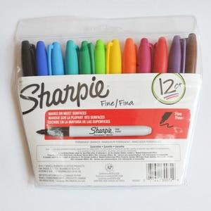 Image 2 - Sharpie Marker Pen Set 12/24 Colored Fine Bullet  For School &Office Drawing Design Paints Art Marker Supplies Stationery