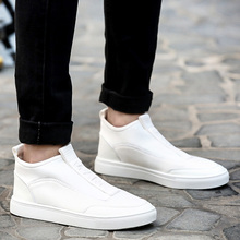 MWSC 2016 Autumn Winter New Arrival Man Casual Shoes Novety Design Style Male Slip On Fashion Soft Light Flats White Red Shoes