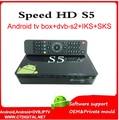 Azamerica s1005 amlogic s805 android receptor de satélite sks iks sul amercia velocidade hd s5 skysat s1010 tocomfree s929 plus