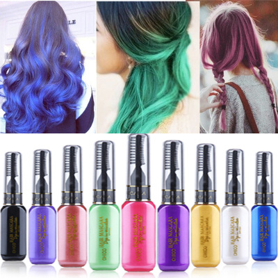 13 colors one-time hair color DIY Hair Dye Temporary Non-toxic color hair wax waterproof mascara blue silver white grey AM024 ...