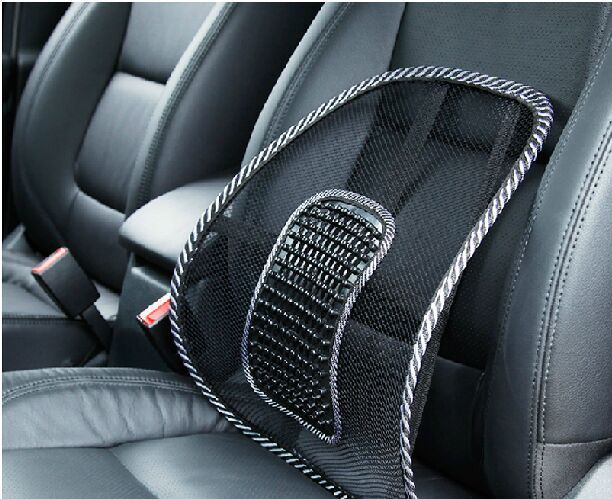 Us 9 58 2pcs Car Seat Office Chair Back Cushion Posture Corrector Black Mesh Ventilate Cushion Pad Pain Relief Seat Back Lumbar Massage In Massage