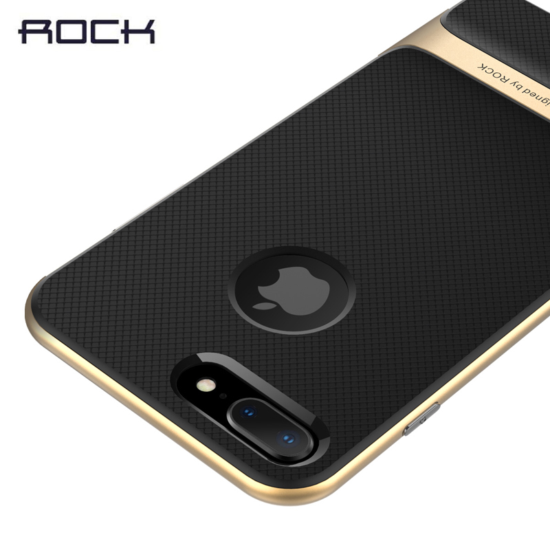 For iPhone 8 phone case ,ROCK Royce Series Protection Case for iPhone 8 Plus Protective back cover case with retail package iPhone 8
