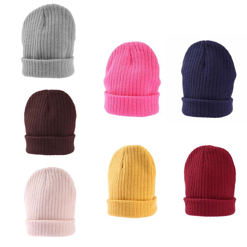 Winter Warm Baby Hat Baby Cap Warm Cotton Baby Hat Girl Boy Toddler Infant Kids Caps Candy Color Lovely Baby Beanies Accessories