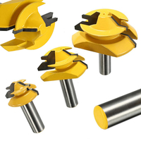 3pcs 1 2 Shank Router Bit 45 Degree Glue Joint Lock Miter Woodworking Cutter For Power