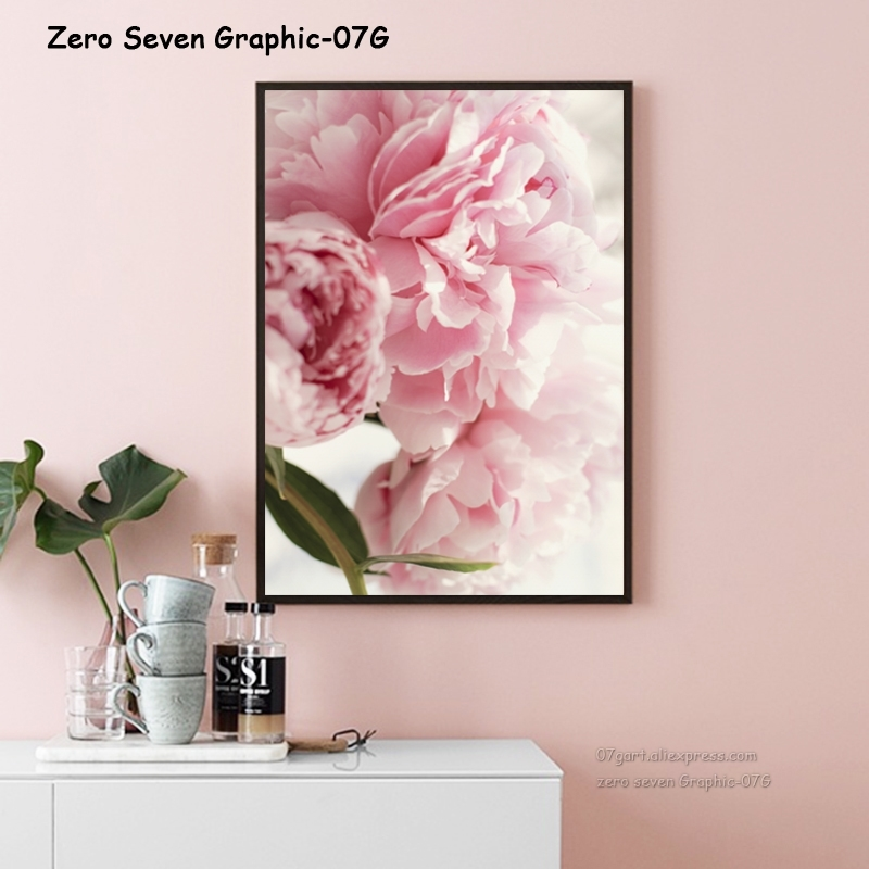 Canvas Painting Nordic Decor Elegant Peony Flower Phrase Poster And Print Wall Art Picture For Living Room Home Decoration