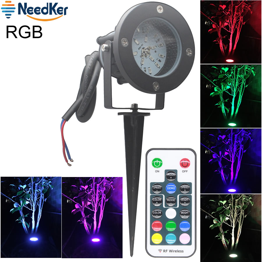 Outdoor Led Light With Remote: RGB Garden Lawn Lamp Light 12V Outdoor LED Spike Light