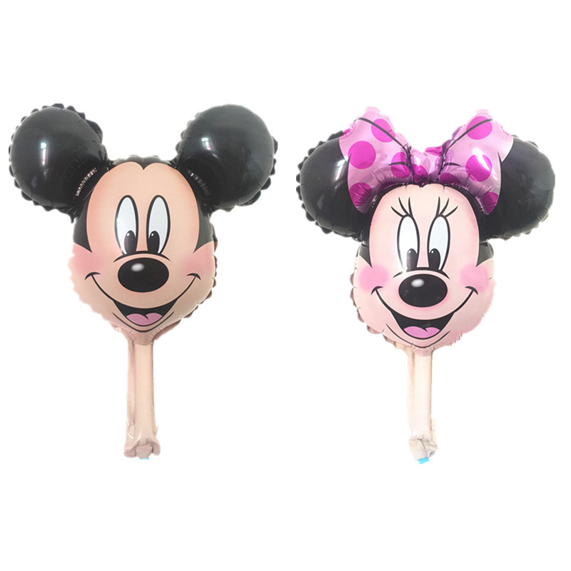 BINGTIAN Minnie Mouse head balloons Red foil helium ballons Birthday Party decorations toys