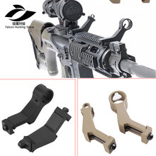 Tactical Hunting Airsoft Handguard 45 Degree Angle Offset Side Backup Iron Sight Front Rear Sight Set fit 20mm Picatinny Rail