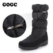 GOGC bottes de neige pour femmes strass haute qualité bottes dhiver femmes imperméable antidérapant bas chaussures dhiver femmes bottes 9854