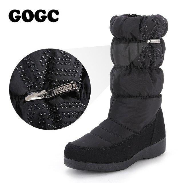 Gogc Snowboots Voor Vrouwen Rhinestone Hoge Kwaliteit Winter Laarzen Vrouwen Waterdichte Non Slip Bodem Winter Schoenen Vrouwen Laarzen 9854
