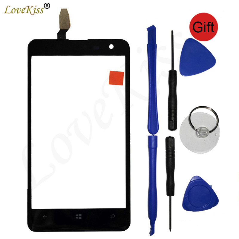 For <font><b>Nokia</b></font> <font><b>625</b></font> Touchscreen Front Panel Digitizer For <font><b>Nokia</b></font> <font><b>Lumia</b></font> <font><b>625</b></font> N625 <font><b>Touch</b></font> <font><b>Screen</b></font> <font><b>Sensor</b></font> LCD Display Glass Cover Replacement image