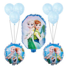 1set Baby shower girl foil balloons Disney Frozen princess elsa anna balloon birthday party decorations kids toys globos(China)
