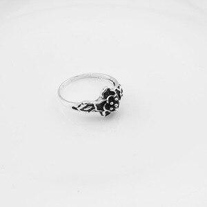 Image 5 - 100 יח\חבילה לערבב רטרו טבעת סיטונאי פרח קסם עתיק כסף מצופה הצהרת קטן בציר טבעת לנשים וגברים