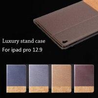 עבור אפל iPad Pro 12.9 מקרה Flip עור PU תבנית צלב מחזיקי כרטיס ארנק Folio החכם Case כיסוי עבור iPad פרו עם Stand