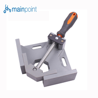 Mainpoint Hot Sale Single Handle Clamp Clip 90 Degrees Corner Right Angle Aluminum Alloy Woodworking Angle