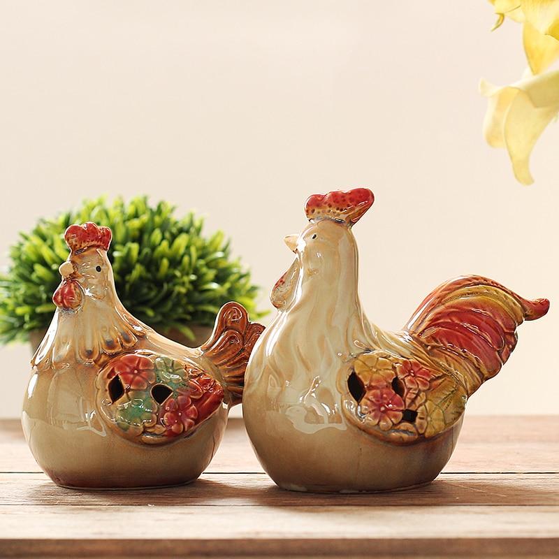 Anti mistress ceramic ornaments Home Furnishing modern minimalist Decor cock office furnishings Zodiac rich chicken