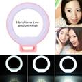 Smartphone led anillo de luz iluminación suplementaria noche oscuridad selfie potenciadores de luz fotografía para iphone 6 s 7 más samsung