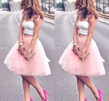 6f07d69ea63b1 Buy pink color women tulle skirt and get free shipping on AliExpress.com