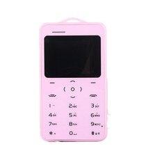 Original ZTG A19 Mini Emergency Card Phone Backup Wallet Phone Ultrathin Student Version Credit Card Bluetooth FM Vibration