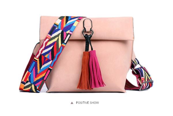 EXCELSIOR Women's Bag Scrub PU Crossbody Bags Luxury Handbags Women Bags Designer bolso mujer Colorful Strap sac a main femme 15