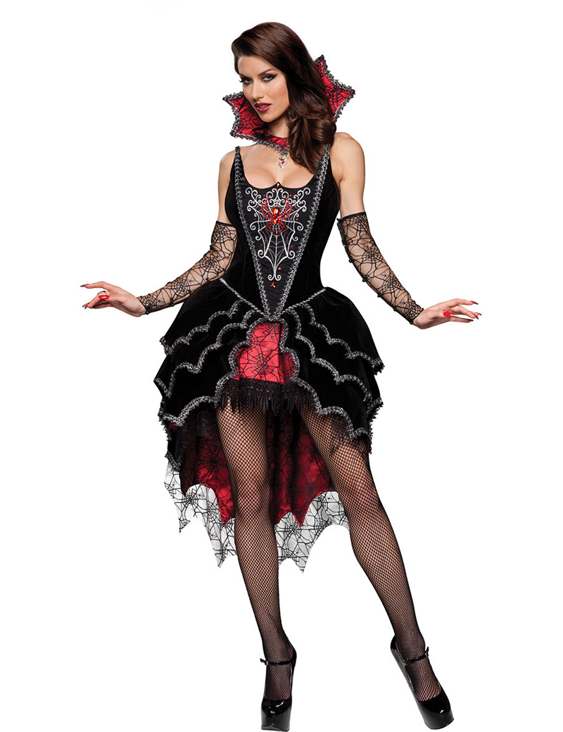 Adult Queen Of The Vampires costume halloween costumes for women sexy cosplay black gothic lolita dress fantasy