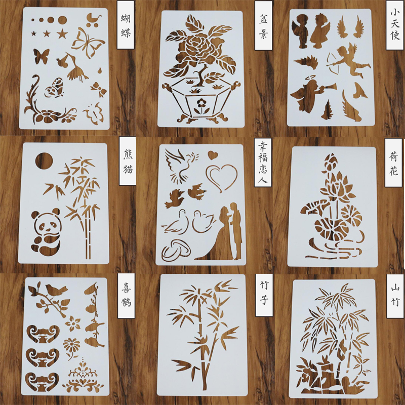 1pc Stencil Children's Puzzle Template Plastic Draw Stencil For Scrapbooking Stamp Embossing Cards Craft Decor Drawing Templates
