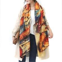 2016 Осень и зима новый стиль Граффити имитация кашемира шарф женская мода мягкая печати все матч шаль(China (Mainland))
